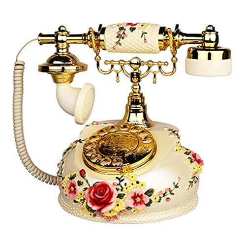 VERDELZ Teléfono de Moda Antiguo, marcación Retro con Tocadiscos, teléfono Fijo con Cable, decoración del hogar, teléfono de Hotel para la decoración del Hotel de la Oficina en casa