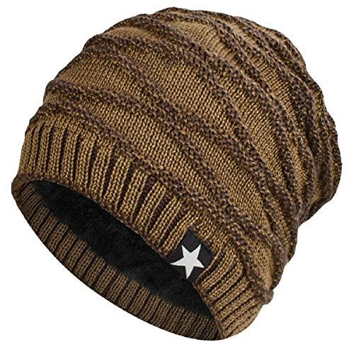 Hombres Cozy Invierno Gorra de Punto tartán Beanie Universal Cálido de Punto de esquí Beanie Hat cráneo Slouchy Gorra Sombrero