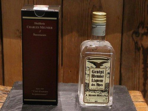 Charles Meunier Weißer Genepy Likör - Kräuter-Likör aus den Französische Alpen Genepi Blanc White - Alkohol-Gehalt 50 Vol.-{d98b1776a3e6e9a12394cb2833347e10b5fcff0fb6742fb689cc64301c450612} -0.5l