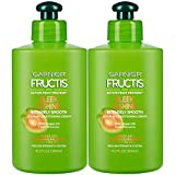 Garnier Fructis Sleek & Shine Intensely Smooth Leave-In Conditioning Cream, 10.2 Ounce (Pack of 2)