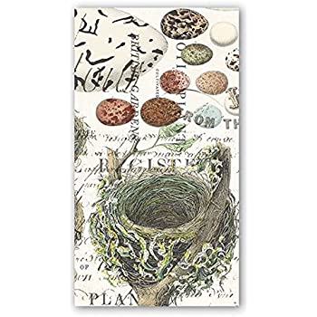 Birds Nest with Eggs C571200 Boston International 20 Count 3-Ply Paper Cocktail Napkins