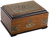 LITINGT Caja de Almacenamiento de Puros - Accesorios para Puros con Parche de Cobre Antiguo Creativo Humidor de Madera de Cedro Caja de Puros Caja Decorativa