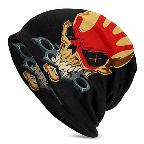 IYIFOO Five Finger Death Punch Adult Men's Knit Hats,Cap,Half Balaclava Black