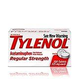 Tylenol Regular Strength Tablets, Acetaminophen Pain Reliever & Fever Reducer, 100 ct