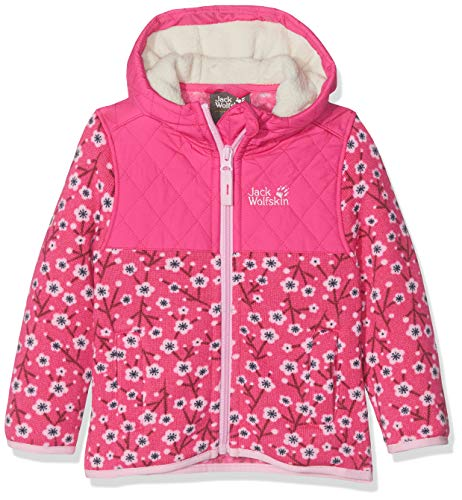 Jack Wolfskin Kinder NORDIC HOODED JACKET KIDS Fleecejacke, pink fuchsia allover, 164
