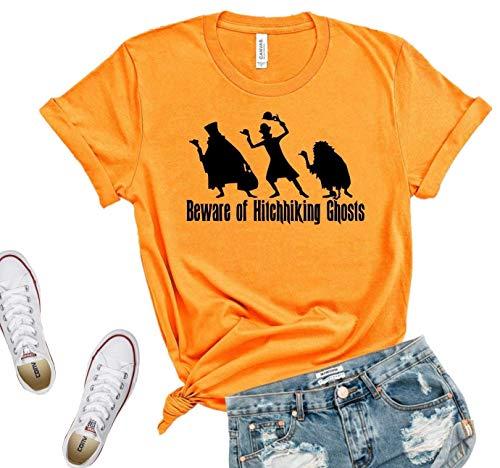 Beware of hitchhiking ghosts, Unisex Tshirt, foolish mortal shirt, tower of terror shirt, halloween shirt, haunted mansion shirt, halloween