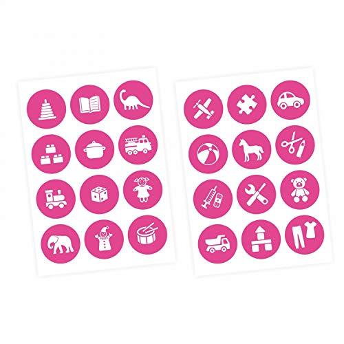 nikima Schönes für Kinder Adhesivo decorativo para muebles, para juguetes, color blanco y rosa