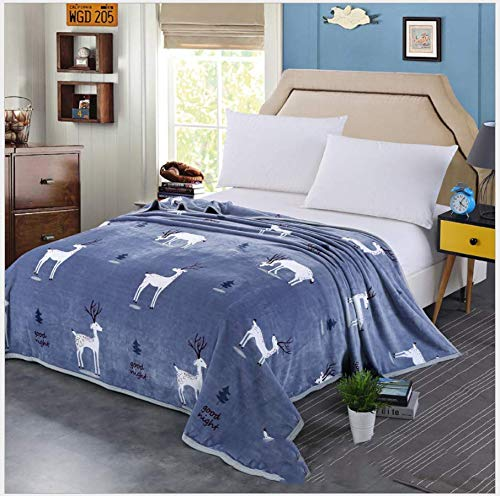 JDCFAS Deken met dierenelandpatroon, geschikt voor slaapbank volwassenen, hoge kwaliteit, slaapt ontlast zwaar en gevoelig comfort