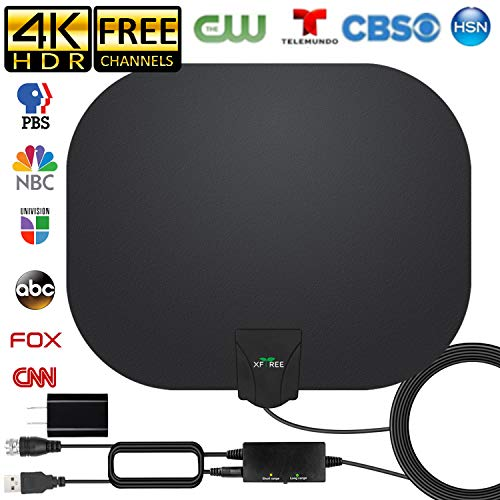 Amplified HD Indoor Digital TV Antenna Long 250 Miles Range, 360° Reception Digital Antenna, Compatible 8K 4K 1080P HDTV and All Old Tv for Free Channels - On The Go Portable Indoor TV Antenna