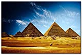 DZMEINI Impresión En Lienzo,Pirámides Egipcias Arte Abstracto De La Pared Impresión En Lienzo Pintura Imagen Imagen Moderna Arte para La Sala De Estar Dormitorio Decoración para El Hogar, 40 × 60 Cm