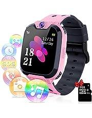 YENISEY Kids Smart Watch, Games Muziekspeler Telefoon Camera Kinderen HD Touchscreen Pols Smartwatch, Polshorloge SOS Horloge als Kinderen Speelgoed en Verjaardagscadeau voor 4-12 jaar oud - Roze