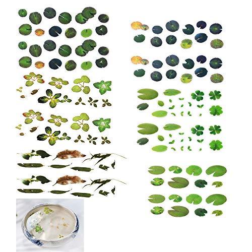 Daimay 12 hojas Simulación 3D Pez Hojas Estanque Koi Lenteja De Agua Clear Film Sticker Etiqueta decorativa de resina Molde de bricolaje para pintar Fabricación de joyas- 6 estilos
