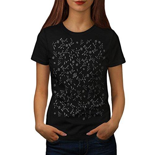 wellcoda Chimica Scienza Geek Donne Maglietta GeekT-Shirt Stampata dal Design Casual