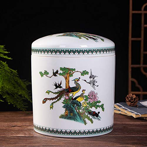 ZXJTX Memorial Box for Ashes Ceramic Ashes Canned Ashes Box Bone Picking And Moving Grave Funeral Home Supplies Pet Animal Ashes Altar Coffin Life Box Cremation Urn (Color : B)