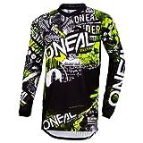 O'Neal | Jersey de Motocicleta | Enduro Motocicleta | Ajuste para una máxima Libertad de Movimiento, Protección para los Codos Cosida | Jersey Element Attack | Adultos | Negro Amarillo Neón | Talla L