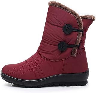 a914a247341 Mujer Invierno Martin a Prueba de Agua Botas Cortas de Nieve Calzado  Mantener Caliente Zapatos