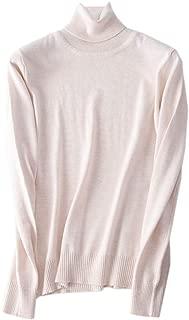 Betusline Women Basic Solid Slim Fit Turtleneck Sweater Pullover