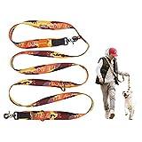 JC HOUSE 多機能リード 犬用リード ハンズフリー 肩掛け/リード 腰ベルト 伸縮 調節可リード 多頭引き 安全3.5cmスーパー幅のデザイン 長さ250cm 散歩 ジョギング/ランニング/ハイキング 訓練 小型 中型 大型 犬用リード 丈夫 ペット用品 Painterオレンジ