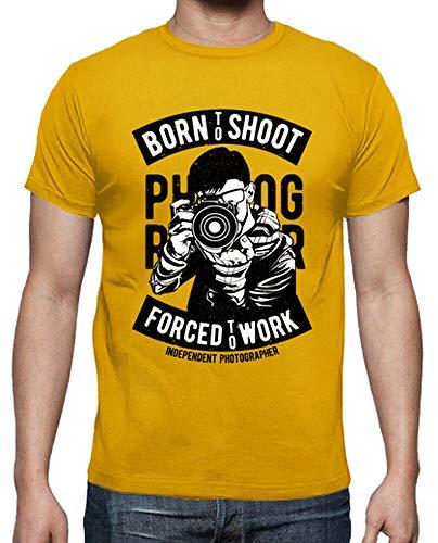 latostadora - Camiseta Born To Shoot para Hombre