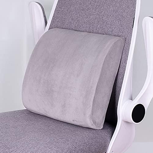 MRBJC Cojín de espuma viscoelástica para interiores y exteriores, para silla de jardín, sofá de mascotas, felpa, decoración de oficina en casa, gris 32 x 31 x 10 cm
