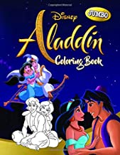 Aladdin Coloring Book: Aladdin Jumbo Coloring Book With Super Cute Images For All Ages