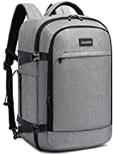 Asenlin 40L Travel Backpack for Women Men?17 Inch Laptop Backpack Flight Approved Luggage Carry On Water Resistant Computer Backpack for Weekender Overnight Large Daypack Grey