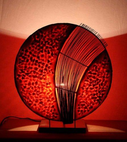 Asiatische Tischleuchten Assan Red M (LA12-126/RO/M), Tischlampen, Designer Stimmungsleuchten, Bali