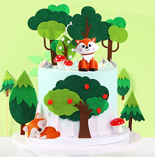 JeVenis 19 STÜCKE Woodland Animal Cupcake Topper Woodland Theme Cupcake Topper Woodland Creatures Cupcake Picks