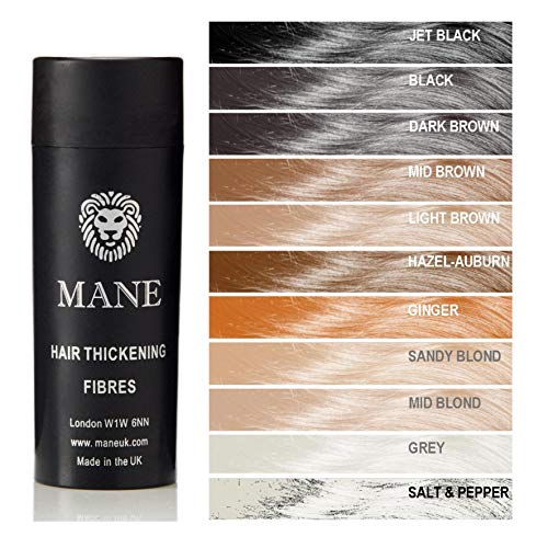 Mid Brown Mane Hair Thickening Fibres- direct from the UK Manufacturer - 11 shades available
