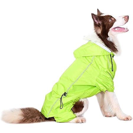 MASKOTA Dog Raincoats Waterproof Lightweight /& High Visibility Full Range Sizes for Large Medium Small All Breeds Poncho Hoodies