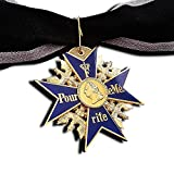 Grand Pour Le Merite 24k Gold Plated Cross Medal Blue Max Highest Honor + Ribbon Repro