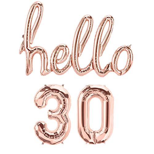 Mapple Balloon Hello 30th Rose Gold Birthday Pack 30 Thirtieth Garland Balloons Decorations Dirty Thirty Party Happy Birthday