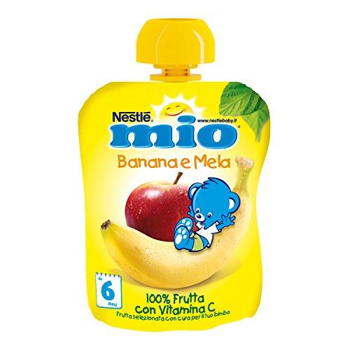 Nestlé Mio Frutta Grattugiata da Spremere Melabanana 100% Frutta, senza Glutine, 90 ml