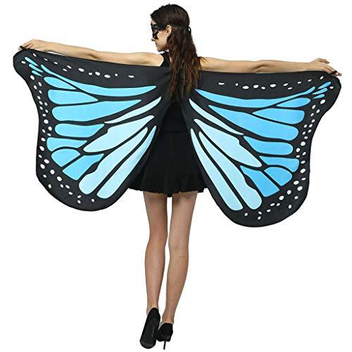 Frashing Mädchen Faschingskostüme Schmetterling Schal Kinder Kostüm Schmetterlingsflügel Pixie Halloween Karneval Fasching Cosplay Schmetterlings Butterfly Wings Flügel 170x82cm