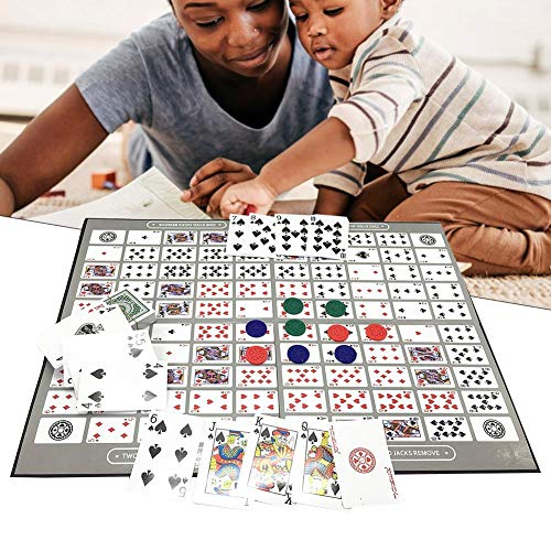 Big Chess Brettspiel Table Spielmuster Sequence Tin Familien version Table Game, Big Chess Board Game Englisch und Arabisch Sequence Game Schach Family Game Toy