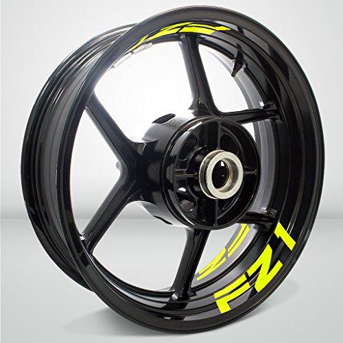 Matt Gelb Motorrad Inner Rim Tape Decal Aufkleber für Yamaha FZ1