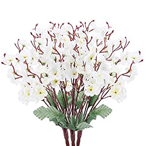 AILANDA 3pcs Small Bunch of Plum red and White
