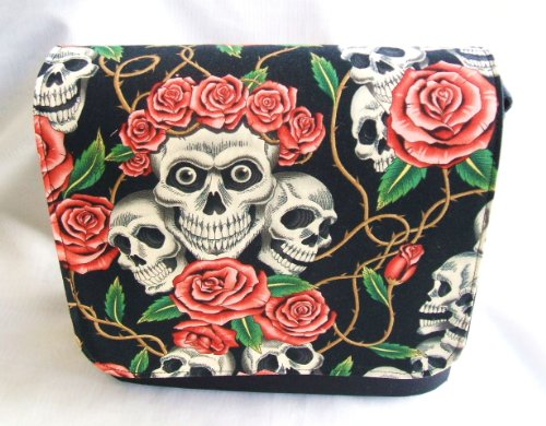 Rose Tattoo Schwarz Messenger Bag