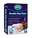 Colief - Breathe Easy Patches - Decongestant Patch for Kids - Eucalyptus and Peppermint - Applies to Clothing - Relieves symptoms of Cold, Flu and Nasal Decongestion - Easy Apply/Remove