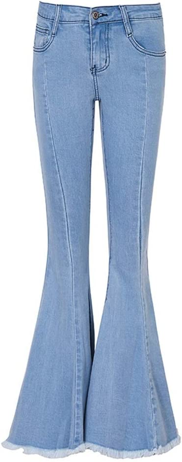 Pantalones Ropa Vaqueros para Mujer Bordes De Color Claro ...