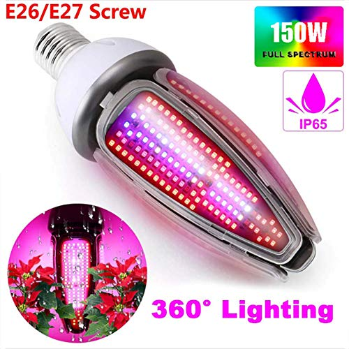 360 Graden Plantengroei Lamp E27 150W Waterdicht IP65 Full Spectrum LED Grow Light Bulb Voor Indoor Garden Greenhouse Hydroponic Grow Tent