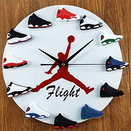 NXW Zapatillas Reloj De Pared Reloj De Pared con Mini Zapatillas Retro 3D Creatividad DIY Zapatillas De Baloncesto 3D Relojes De Pared para Cocina Decoración De Sala De Estar, Regalo