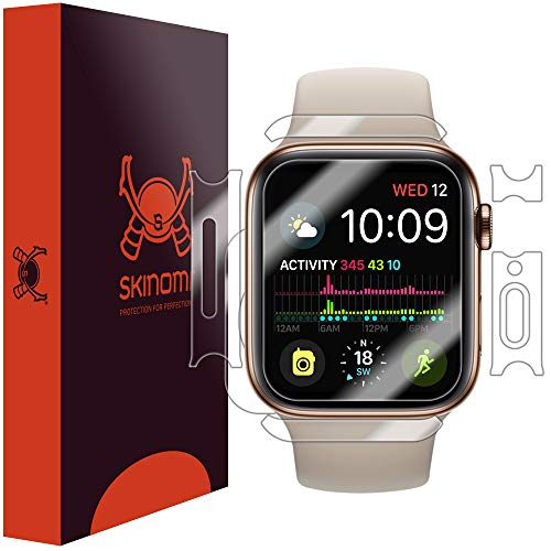 Skinomi TechSkin, Pellicola Protettiva Apple Watch Series 4-40 mm.Fronte/Retro, Idrorepellente