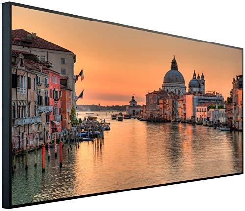 Ecowelle Infrarotheizung mit Bild | 1200 Watt | 120x60x2cm | Infrarot Heizung| | Made in Germany| d 12 Canal Grande Venedig