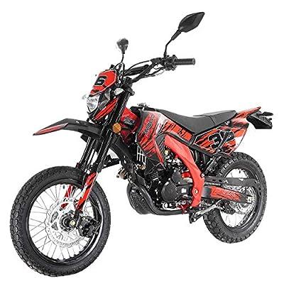 X-PRO 250cc Dirt Bike Pit Bike Gas Dirt Bikes Adult Dirt Pitbike 250cc Deluxe DOT Street Legal Dirt Pit Bike,Red