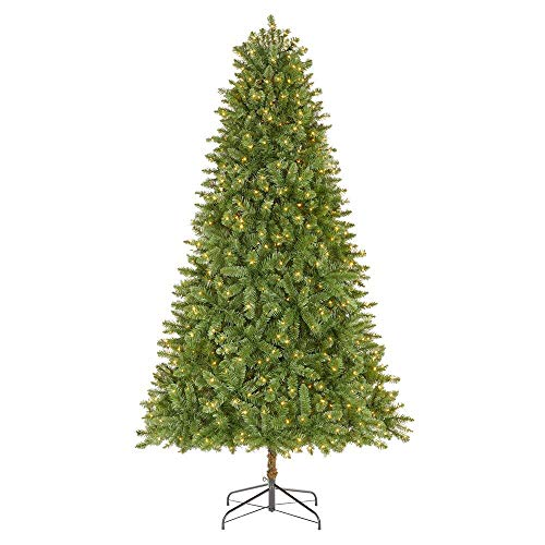 Home Accents Holiday 7.5 ft Fenwick Pine LED Pre-Lit Artificial Christmas Tree with 700 Warm White Micro Dot Lights