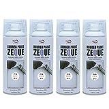 AZ(エーゼット) ラバーペイント ZEQUE 油性 RP-4 パールホワイト 400ml(RP040)×4本 SE311