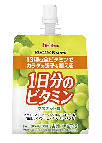 PERFECT VITAMIN 1日分のビタミンゼリー マスカット味 180g×24袋 ハウスウェルネスフーズ