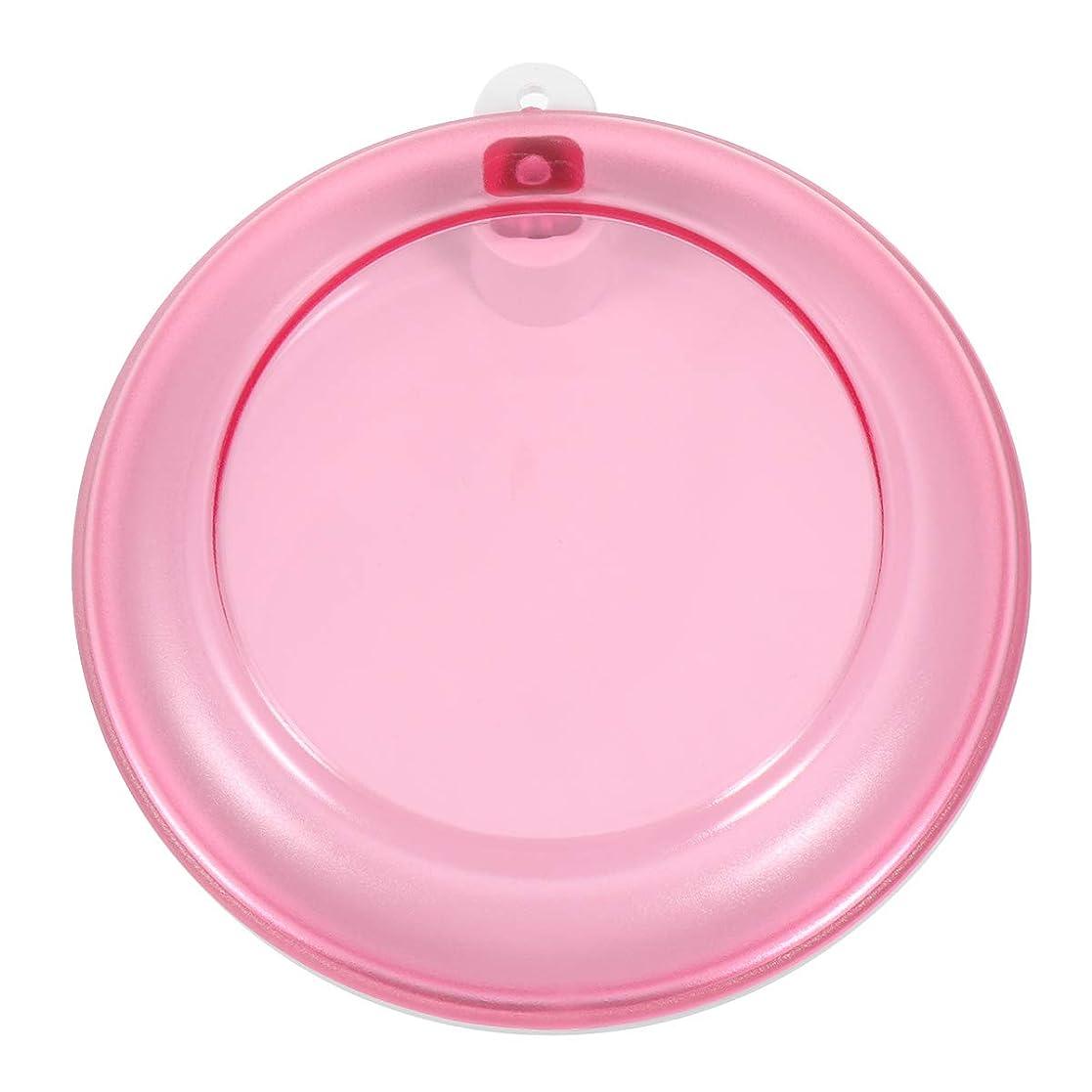 デザイナー壮大なパイプラインHealifty 義歯ボックスポータブル回転歯収納ボックス(ピンク)