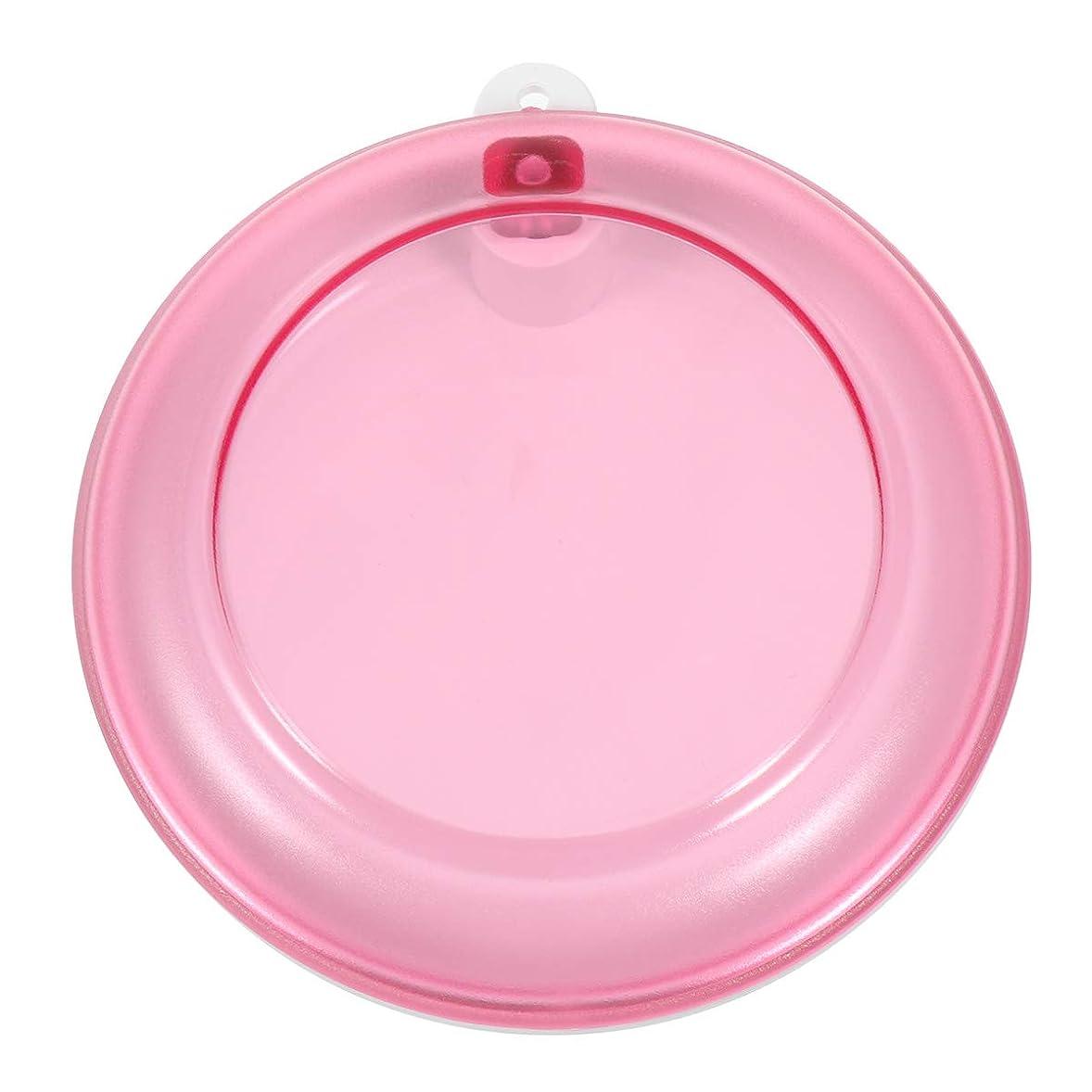 球体ペチコート魅惑するHealifty 義歯ボックスポータブル回転歯収納ボックス(ピンク)